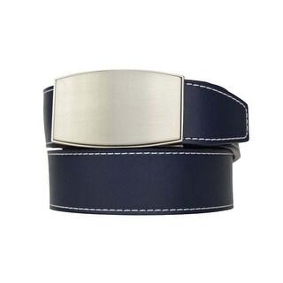 Nexbelt Aston Colour Series Deep Sea Navy Leather Strap w/ Brushed Nickel Buckle