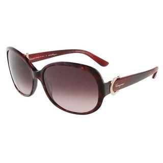 Salvatore Ferragamo SF613S 609 Red Havana Oval sunglasses - 59-16-135