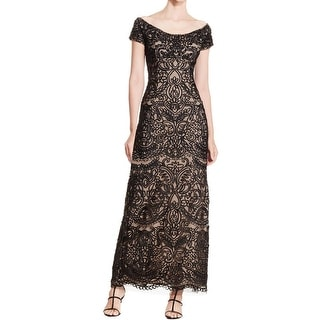 Alex Evenings Womens Evening Dress Embellished Lace