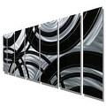 Statements2000 Black / Silver Contemporary Metal Wall Art Painting by Jon Allen - Crossroads - Thumbnail 8