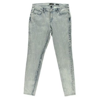 Kiind Of Womens Sexy Skinny Acid Wash Mid-Rise Skinny Jeans