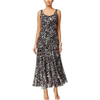 Nine West Womens Maxi Dress Crepe Printed