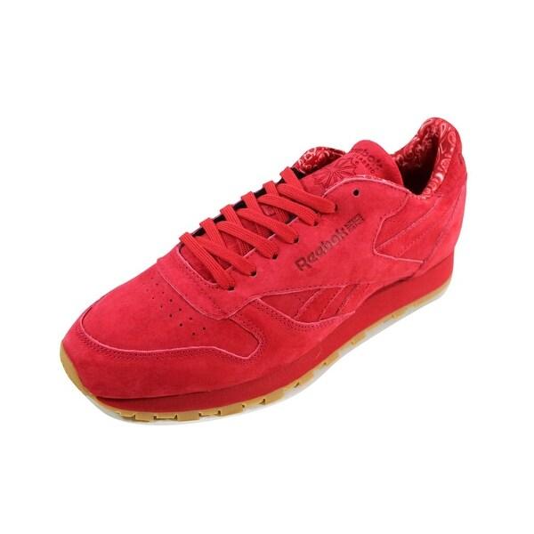 Shop Reebok Men's Classic Leather TDC ScarletWhite Gum
