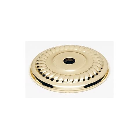 "Alno A813-14P Rope 1-1/4"" Diameter Cabinet Knob Backplate"