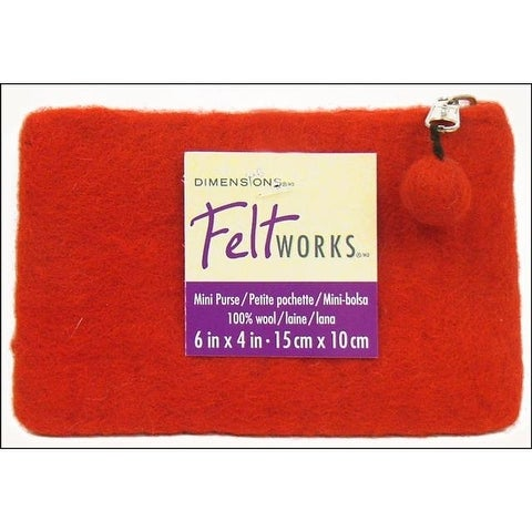 Dimensions Feltworks 100% Wool Purse Mini Red