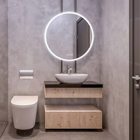 Led Bathroom Mirror with Antifog, Dimmer, Adjustable Color Temperature, Smart Bathroom Led Mirror