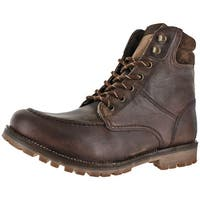Crevo Men's Rough Neck Leather Casual Hiking Boots