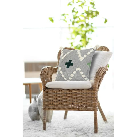 Tonal Green Swiss Zeal Throw Pillow