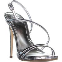 GUESS Tilda Buckle Ankle Strap Sandals, Silver