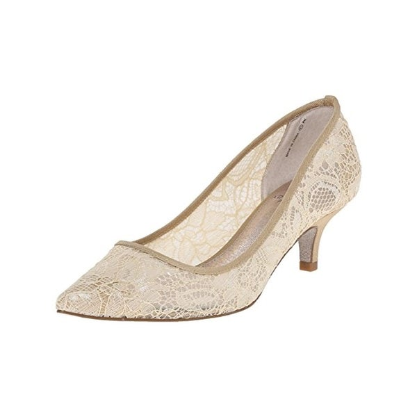 Adrianna Papell Womens Lois Pumps Metallic Lace