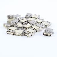 Unique Bargains 20pcs USB Type A Female Port 180 Degree 4-Pin SMD SMT Jack Socket Connector