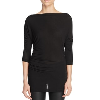 Bailey 44 Womens Tapir Casual Top Ruched 3/4 Sleeve