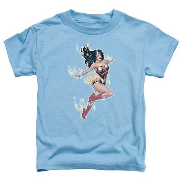 Jla-Simple Wonder Short Sleeve Toddler Tee, Carolina Blue - Smal