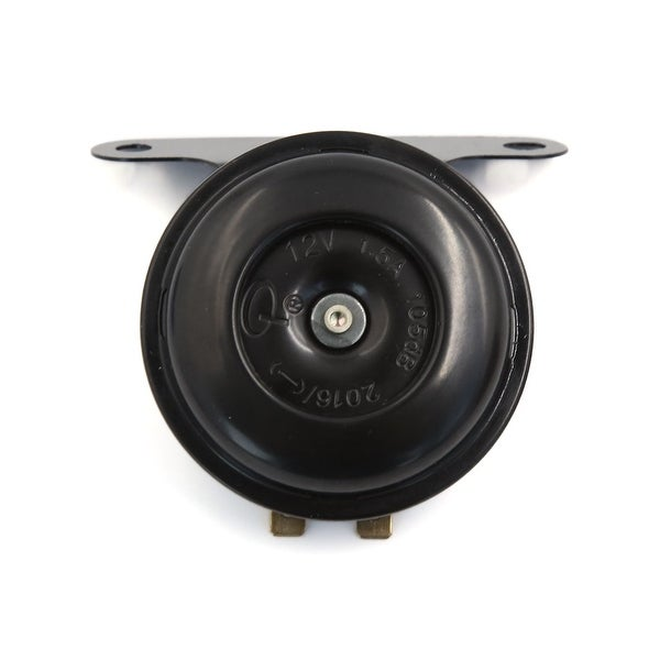 Universal DC 12V Metal Trumpet Electric Horn Audio Speaker Black for Motorcycle
