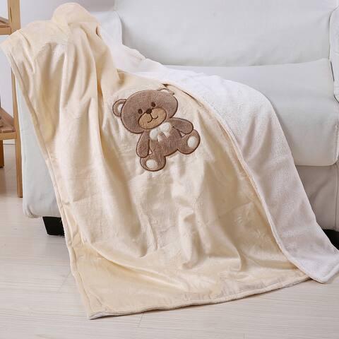 Super Soft Teddy Bear Baby Blanket