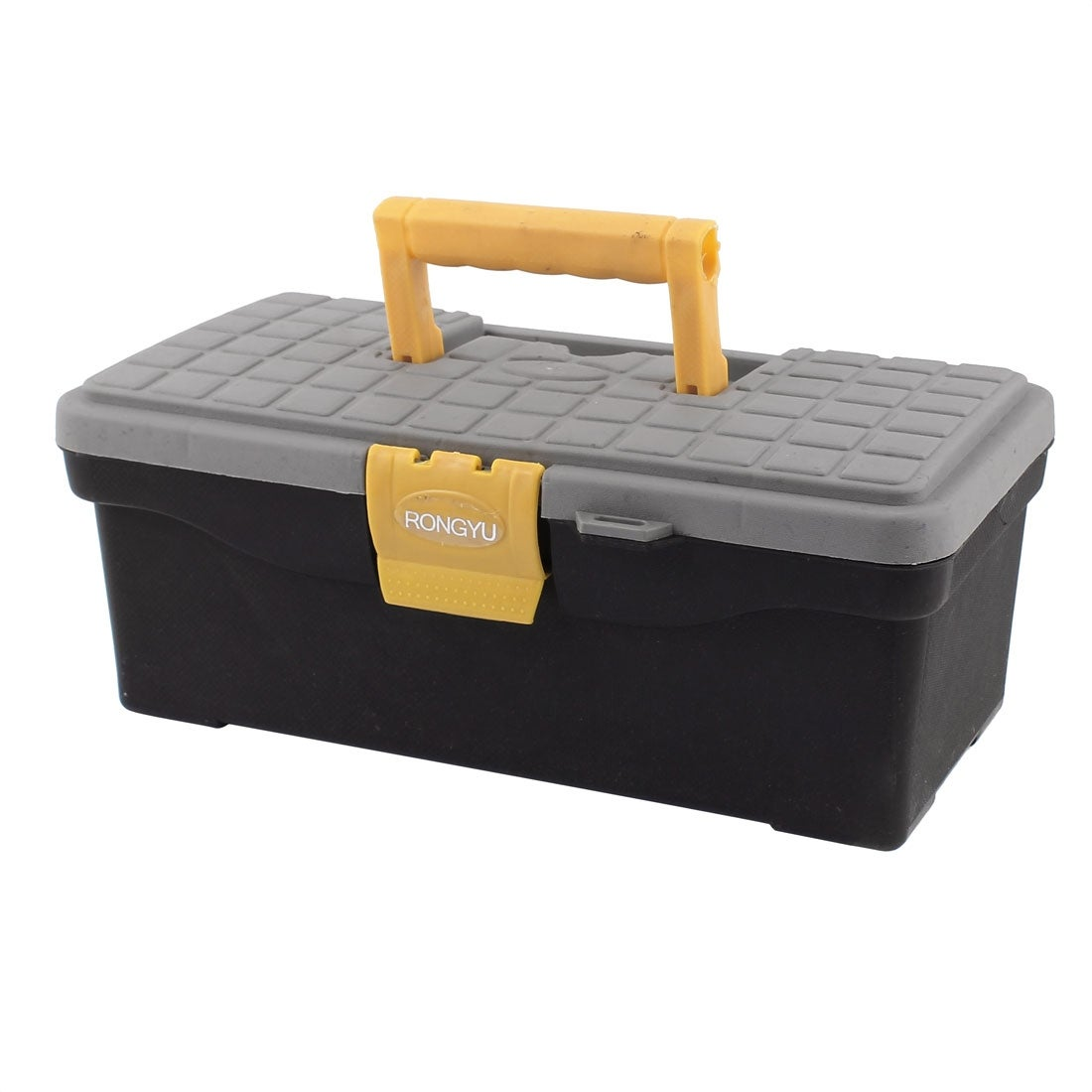 320mmx170mmx120mm Plastic Dual Layers One-Latch Tool Storage Tackle Box
