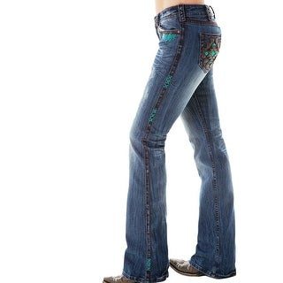 Cowgirl Tuff Western Denim Jeans Womens Turquoise Haven Med JTRQHA