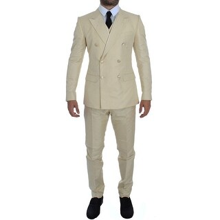 Dolce & Gabbana White Double Breasted 3 Piece Suit