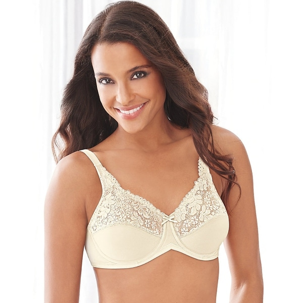 Lilyette by Bali Tailored Minimizer Bra With Lace Trim - 38g