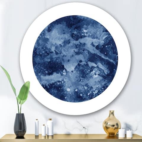 Designart 'Space Galaxy Circle' Modern Metal Circle Wall Art