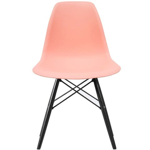 Designer Plastic/ Black Legs Retro Armless Eiffel Chair