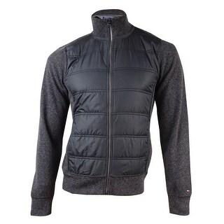 Tommy Hilfiger Men's Quilted Zip-Front Jacket (S, Grey) - Grey
