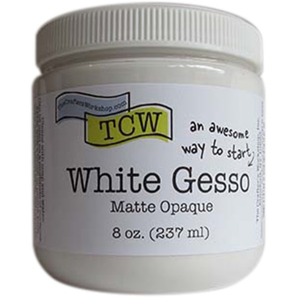 Crafter's Workshop Gesso 8Oz-White