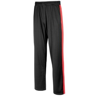 Ideology NEW Black Red Mens Size Large L Athletic Stripe Track Pants