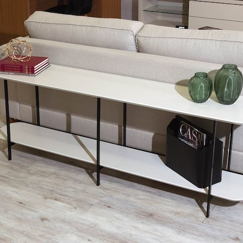 Celine 70.86 Black Wood Side Table Console