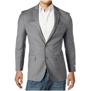 DKNY Mens Two-Button Suit Jacket Wool Pattern - 36S