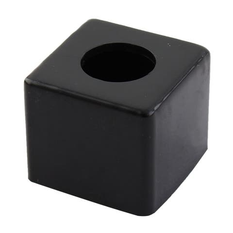Plastic Billiard Pool Snooker Cue Tip Retractable Chalk Pocket Cup Holder Black