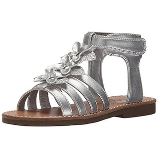 Rachel Shoes Girls Charleston Metallic Faux Leather T-Strap Sandals - 10 medium (b,m)