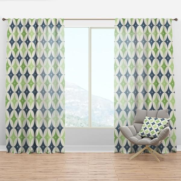 Designart Retro Geometric Design V Mid Century Modern Curtain Panel On Sale Overstock 29626249