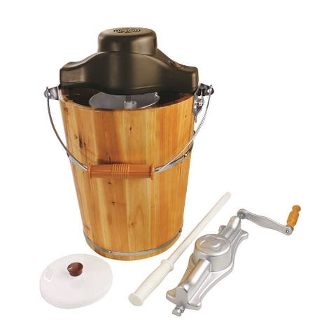 Carey by Chard 6QT Wood Bucket CE Cream Maker
