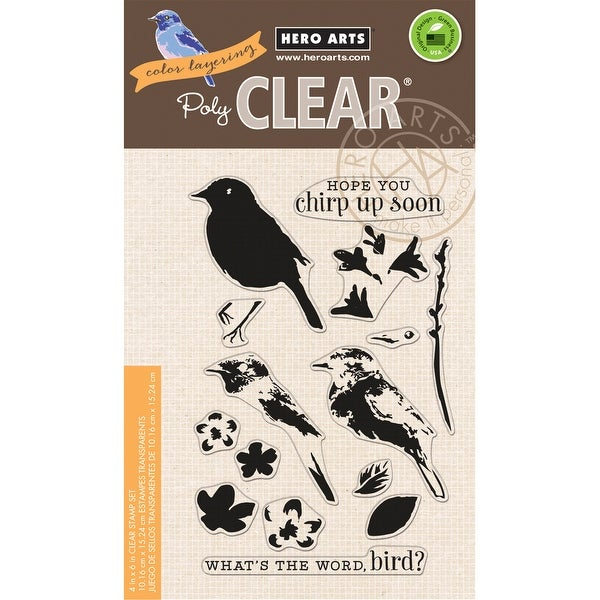 "Hero Arts Clear Stamps 4""X6""-Color Layering Bird & Branch"