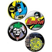 Batman; Robin & Joker - Button Set 4/Pkg