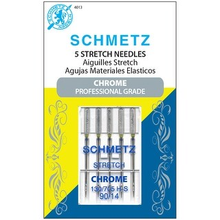 Chrome Stretch Machine Needles-Size 90/14 5/Pkg - size 90/14 5/pkg