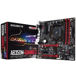 Gigabyte Ga-Ab350m Micro Atx 3 Amd B350 Socket Motherboard