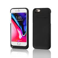 Indigi® Trendy Rechargeable Protective Battery Case for iPhone 8 - 3200mAh - Matte Black