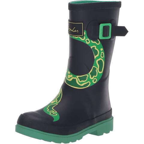 Joules Women's Shoes Jnr welly print Closed Toe Mid-Calf Cold Weather Boots - 10