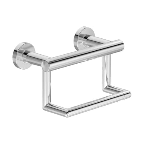 Symmons 353GBTP Dia Wall Mounted Pivoting Toilet Paper Holder with Assist Bar