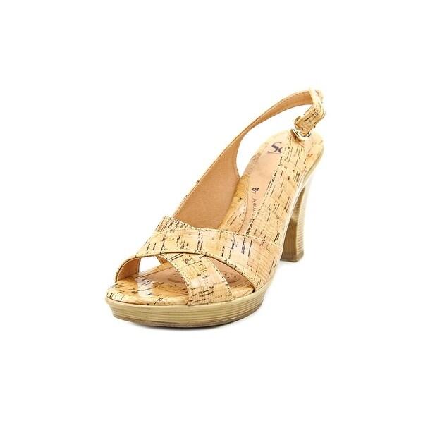 Sofft Portia Women Open-Toe Canvas Tan Slingback Sandal