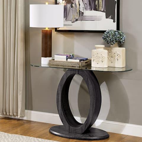 Strick & Bolton Totte Contemporary Grey O-shaped Sofa Table