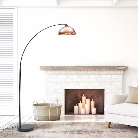 Archiology 79-inch Arch Floor Lamps With Plated Shade