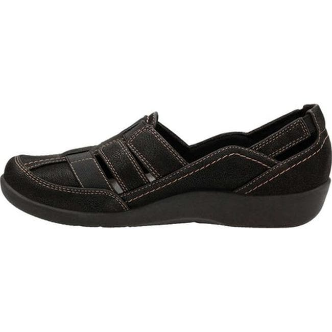 e312d0e76109a Shop Clarks Women's Sillian Stork Slip-On Black Synthetic - On Sale - Free  Shipping Today - Overstock - 22864599