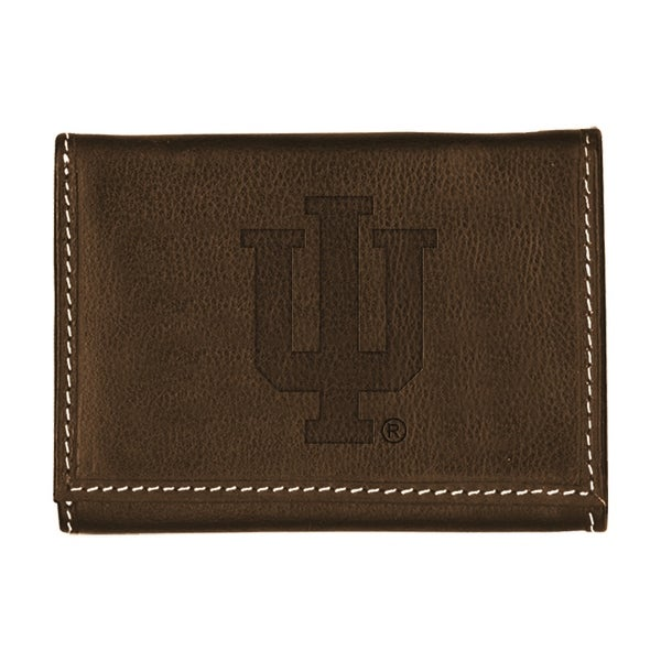 56ea5eb27f4c Shop Indiana University Contrast Stitch Trifold Leather Wallet ...