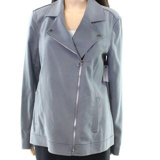 Classiques Entier NEW Gray Womens Size Medium M Asymmetric Blazer Wool