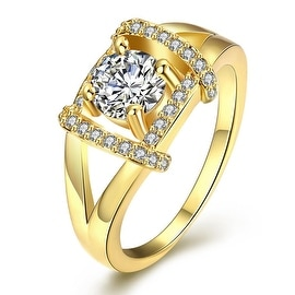 Jewel Lined Gold Ring