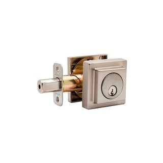 Copper Creek DBS2420 Square Contemporary Double Cylinder Deadbolt from the E Series