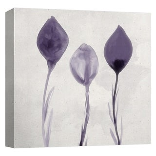 "PTM Images 9-124767  PTM Canvas Collection 12"" x 12"" - ""Aqua Bloom II"" Giclee Flowers Art Print on Canvas"